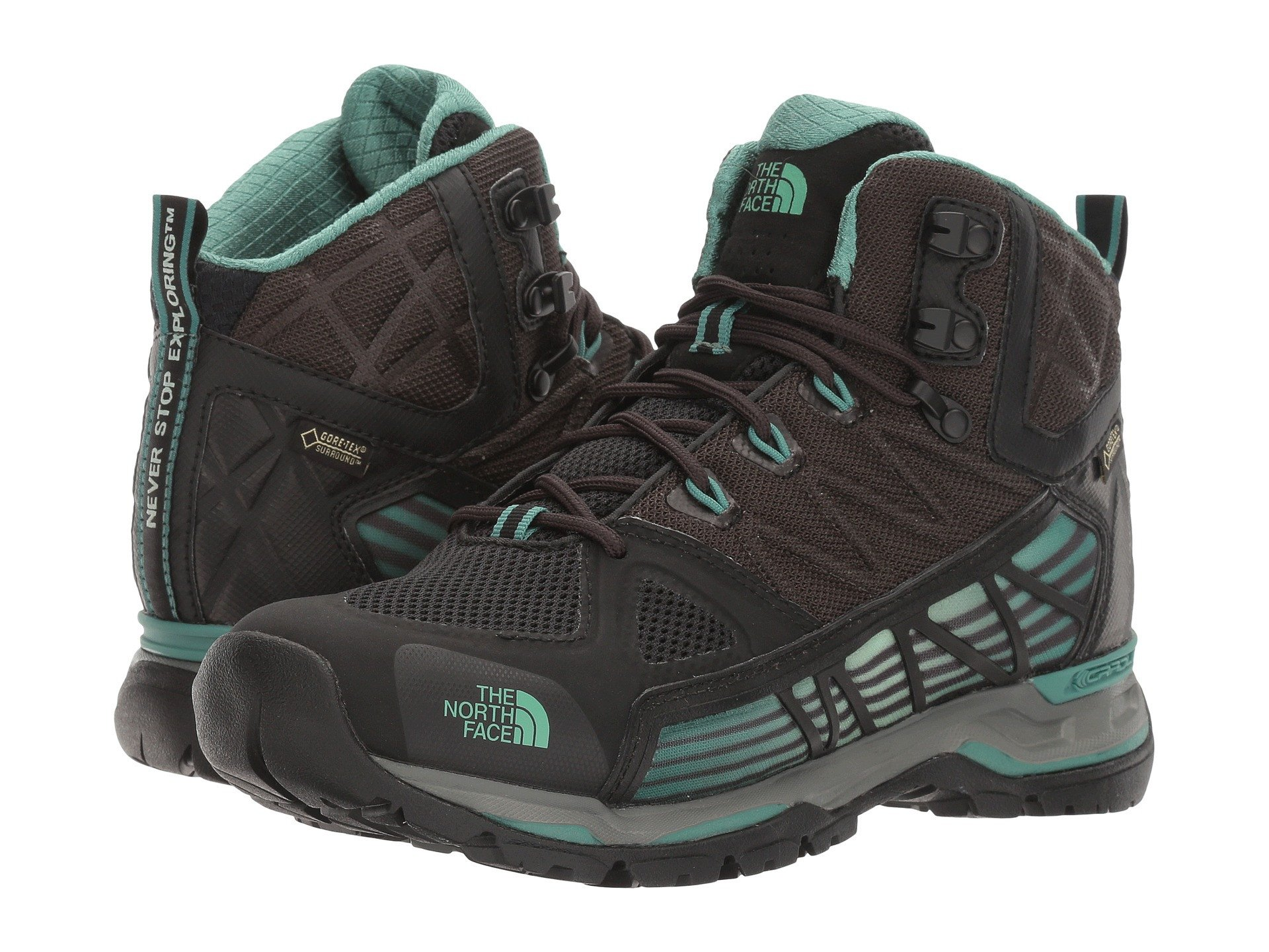 best service cae00 033a3 Details about THE NORTH FACE Ultra GTX Surround Mid Women | TNF Black /  Deep Sea (NF0A2T64)