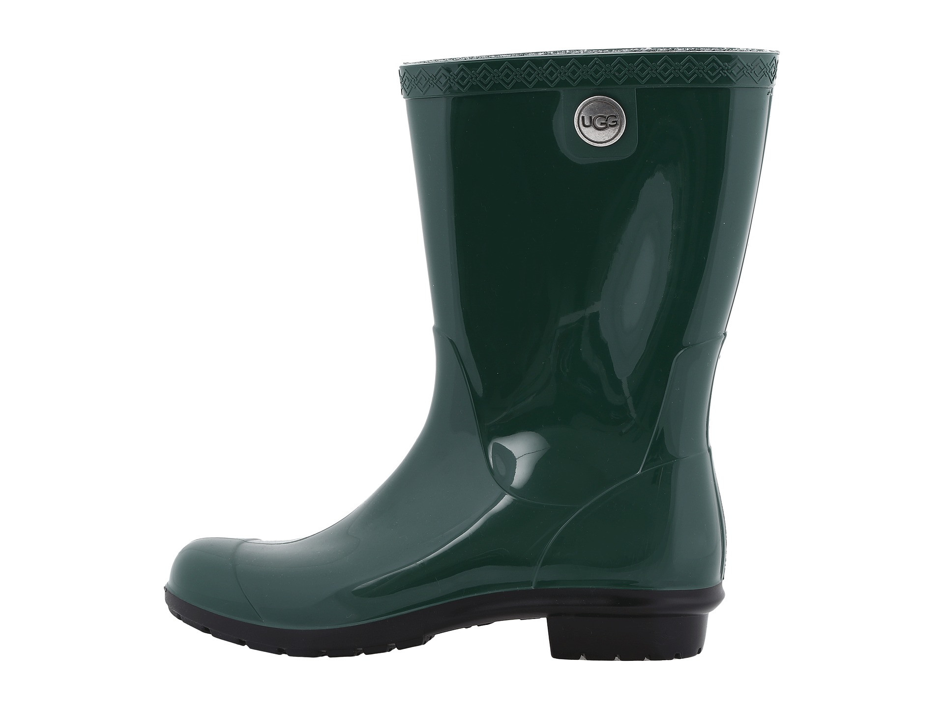 3acee8e9ea5 Details about UGG Women's Sienna Mid Calf Pull Up Rain Boot Pine
