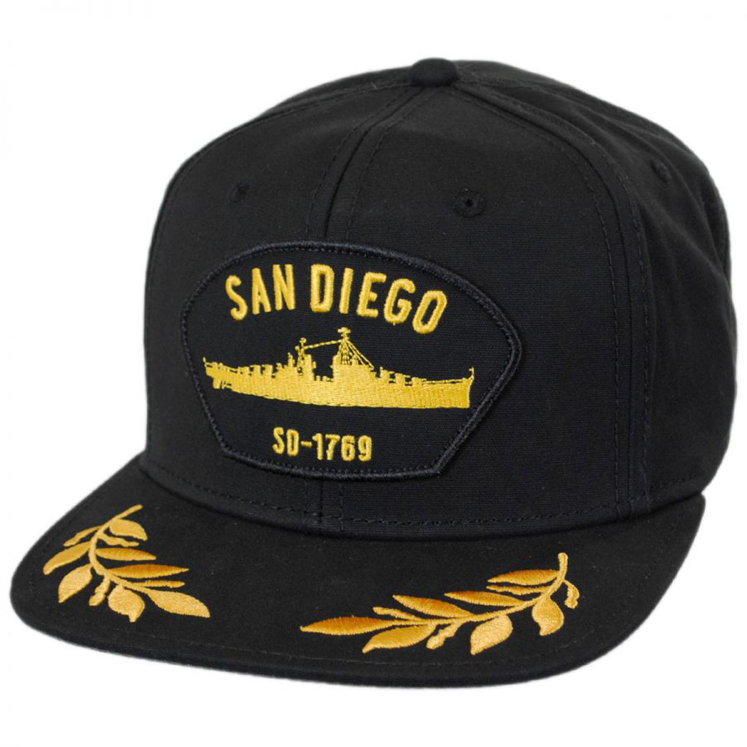 1c44d303e87c8 Show love for America s finest city with the San Diego Snapback Baseball Cap  by Goorin Bros! Featuring a carrier vessel patch on its front