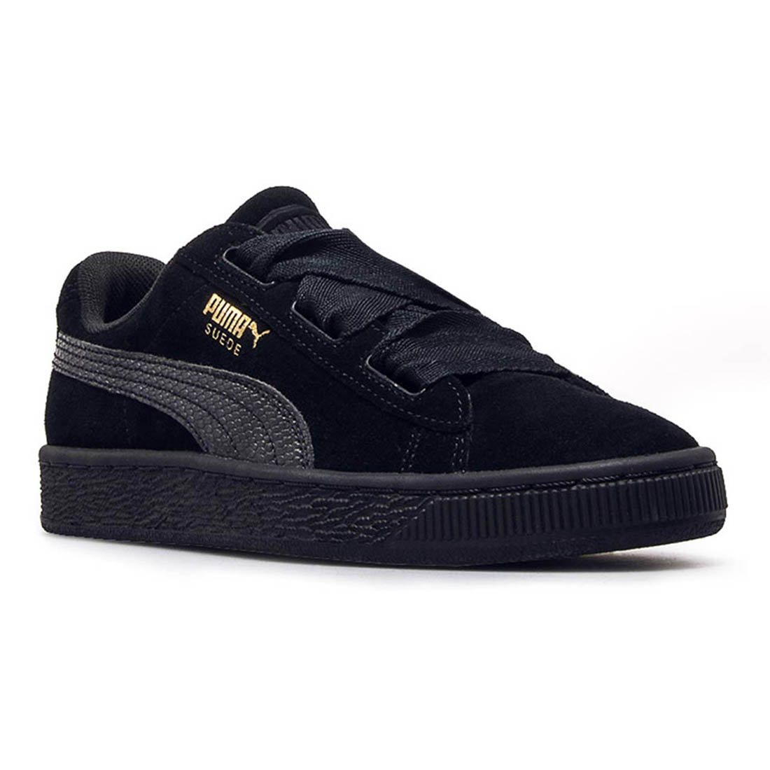 finest selection ee520 7d60e Details about PUMA Suede Heart SNK Youth | Black / Black (364918-06)