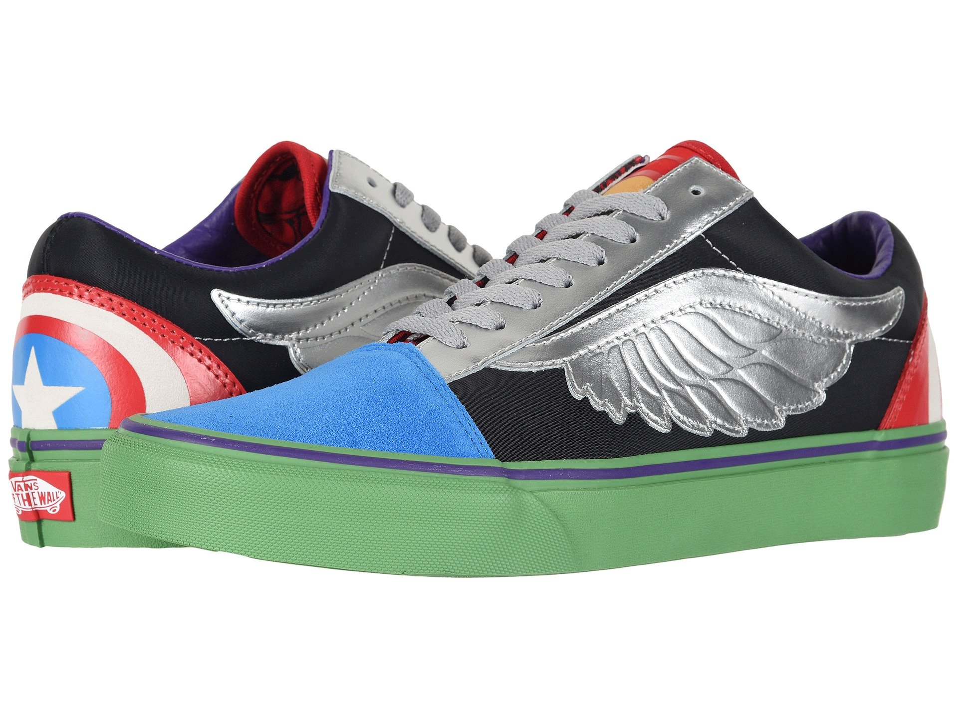 f6f63d579a Details about Marvel Comics Vans Womens Old Skool School Avengers lace up  sneakers Multicolor