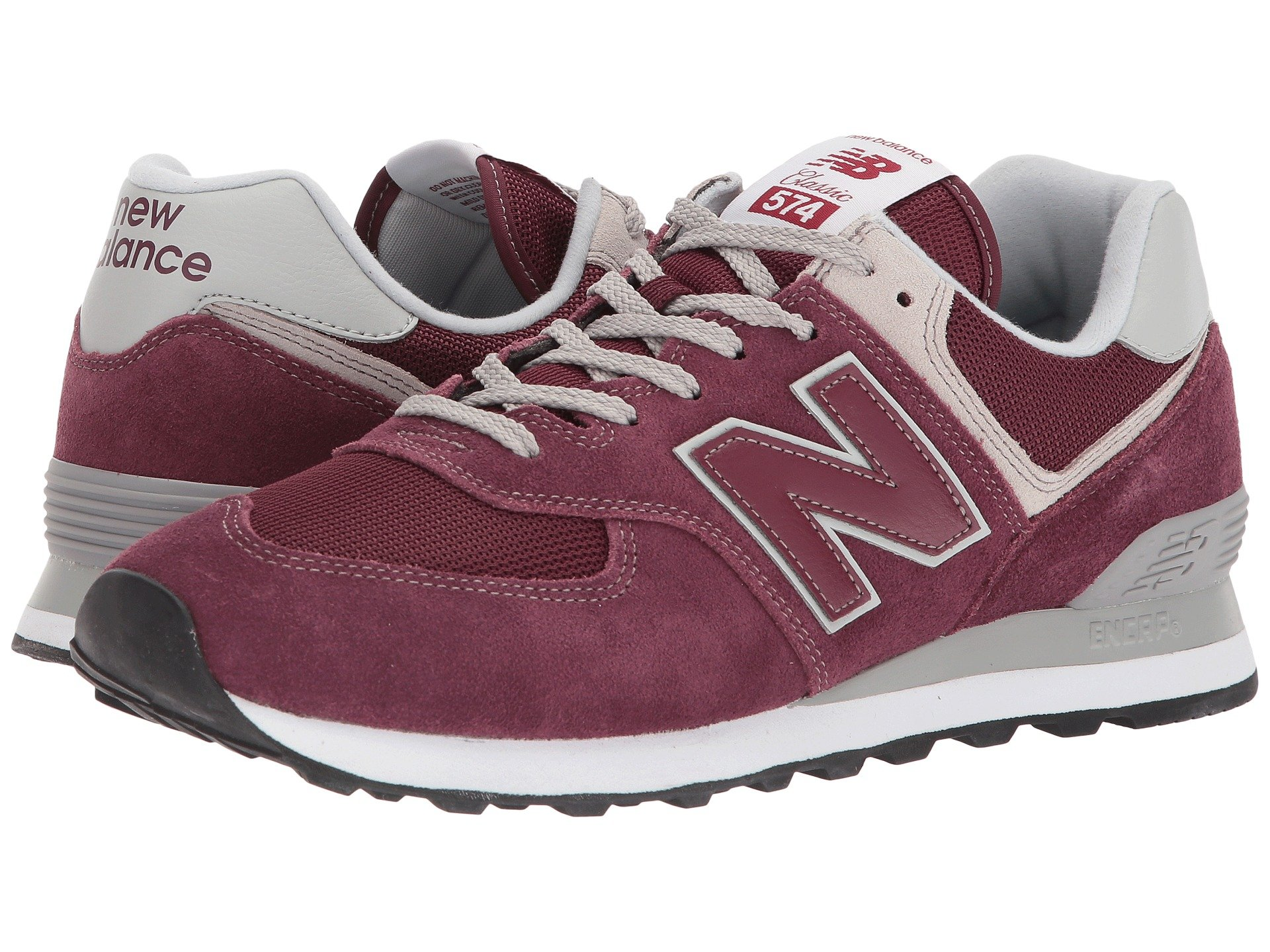 huge selection of 9aa68 6805e Details about NEW BALANCE 574 Core Burgundy Men's Sneaker Shoes ML574EGB