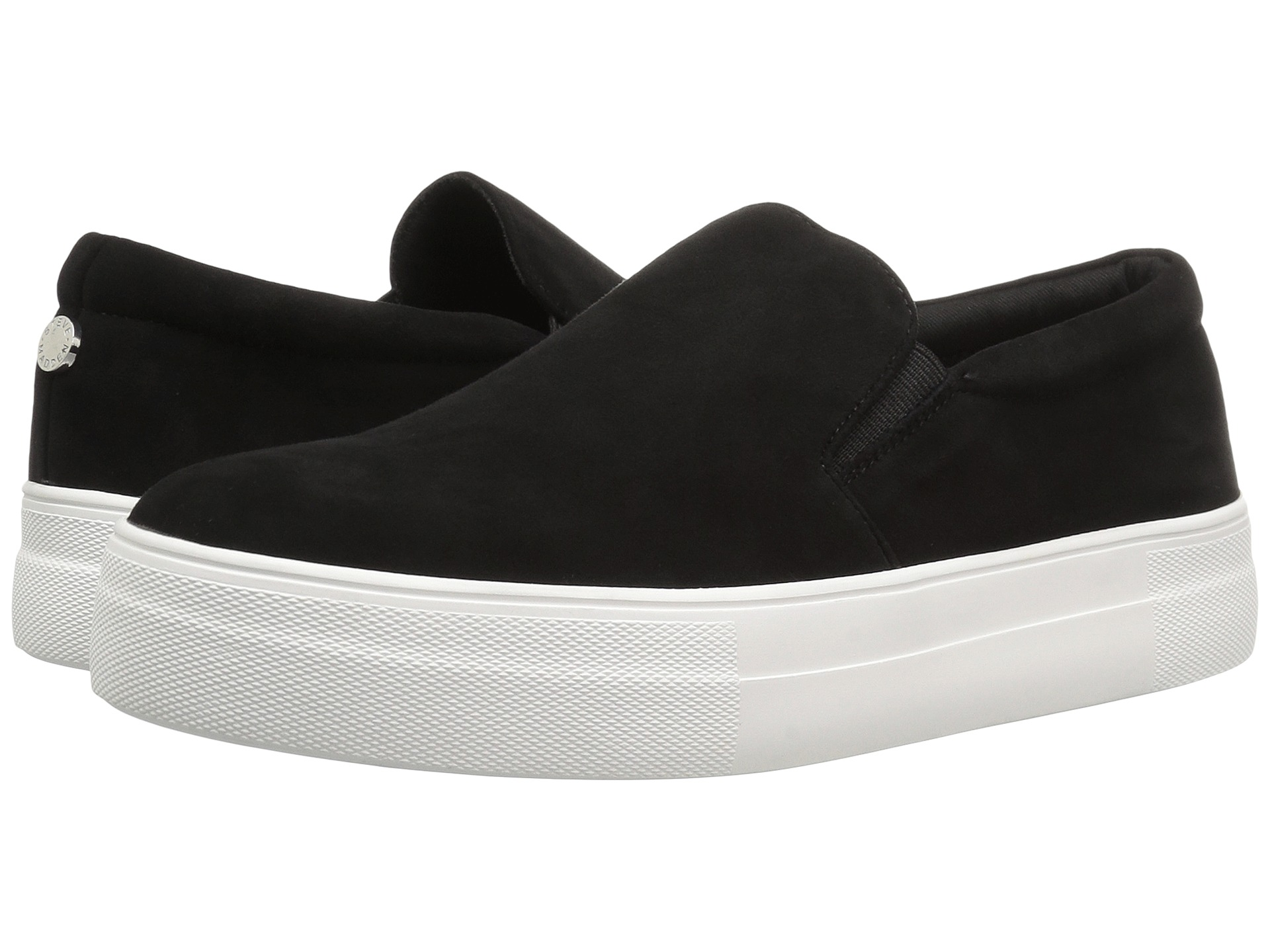 a067012657b Details about STEVE MADDEN Gills Women Slip On Fashion Sneakers Black Suede