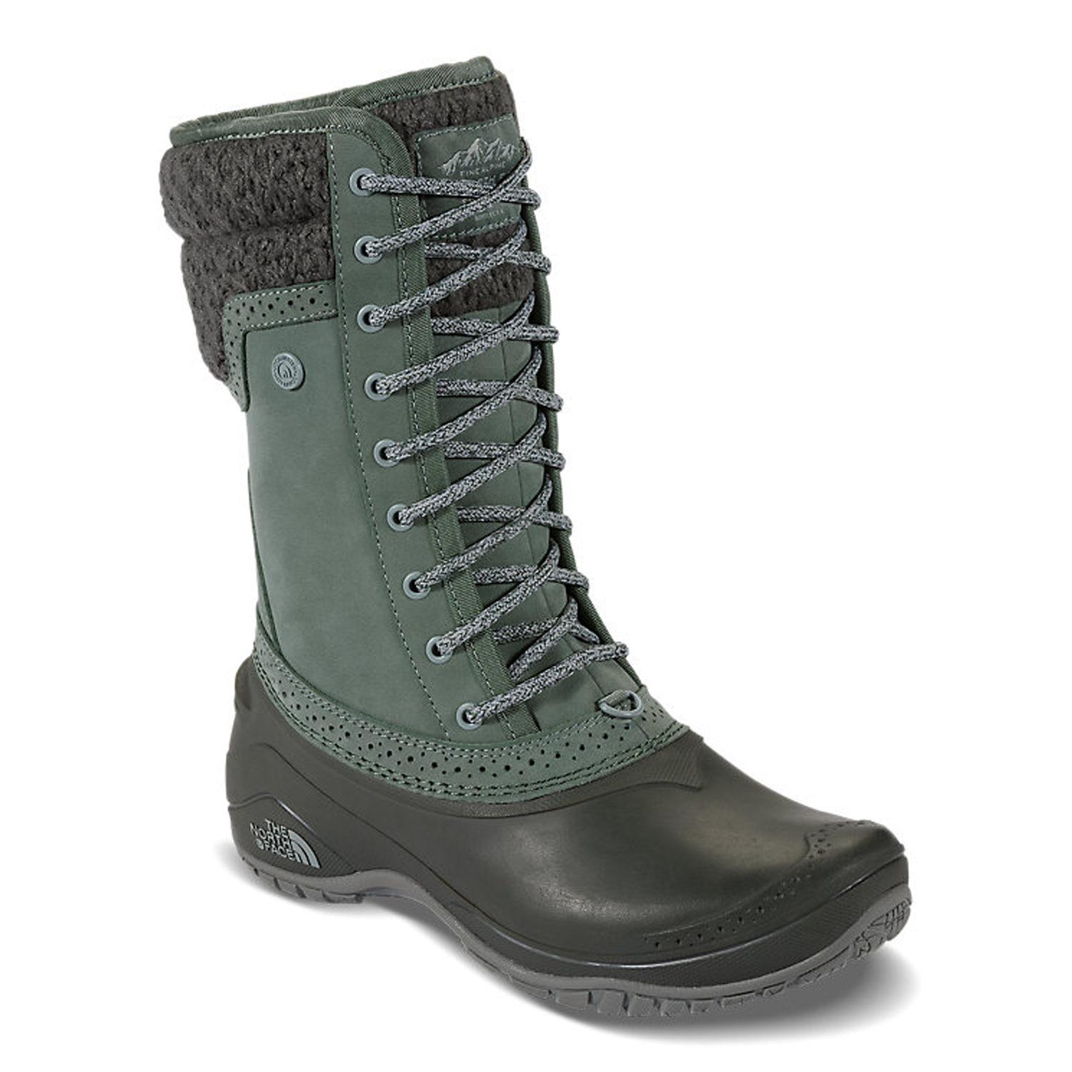 d92c38195 Details about The North Face Women's Shellista II Mid Winter Snow Boots  Green Size 5
