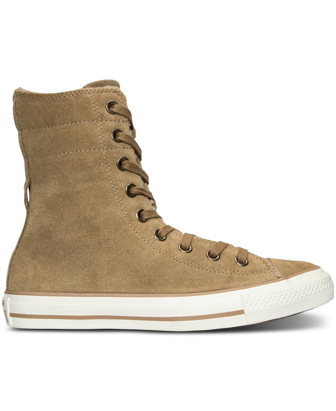 Converse All Star Hi Suede Shearling chaussures beige