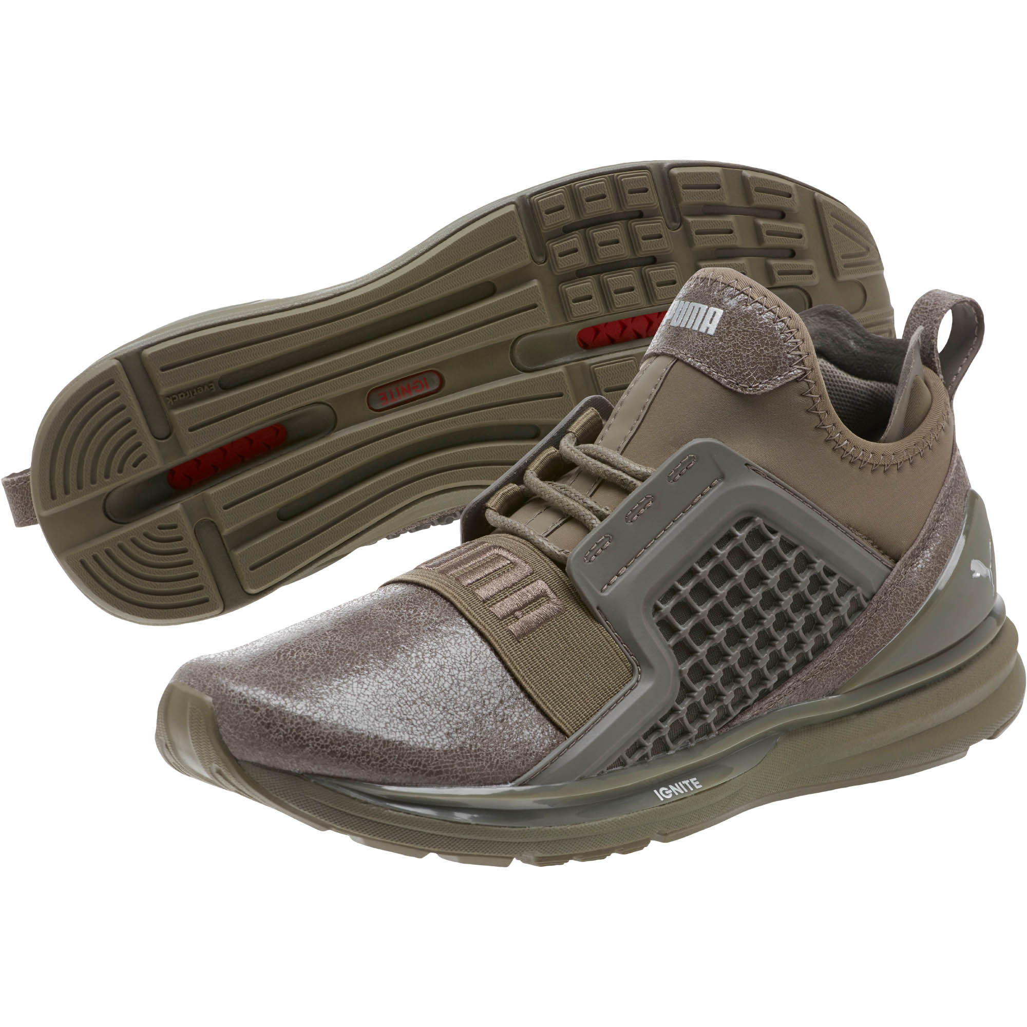 a5c5cd08ebba2 Details about Puma Ignite Limitless Metallic Suede Women's Sneaker Shoes  Bungee Cord 19096501