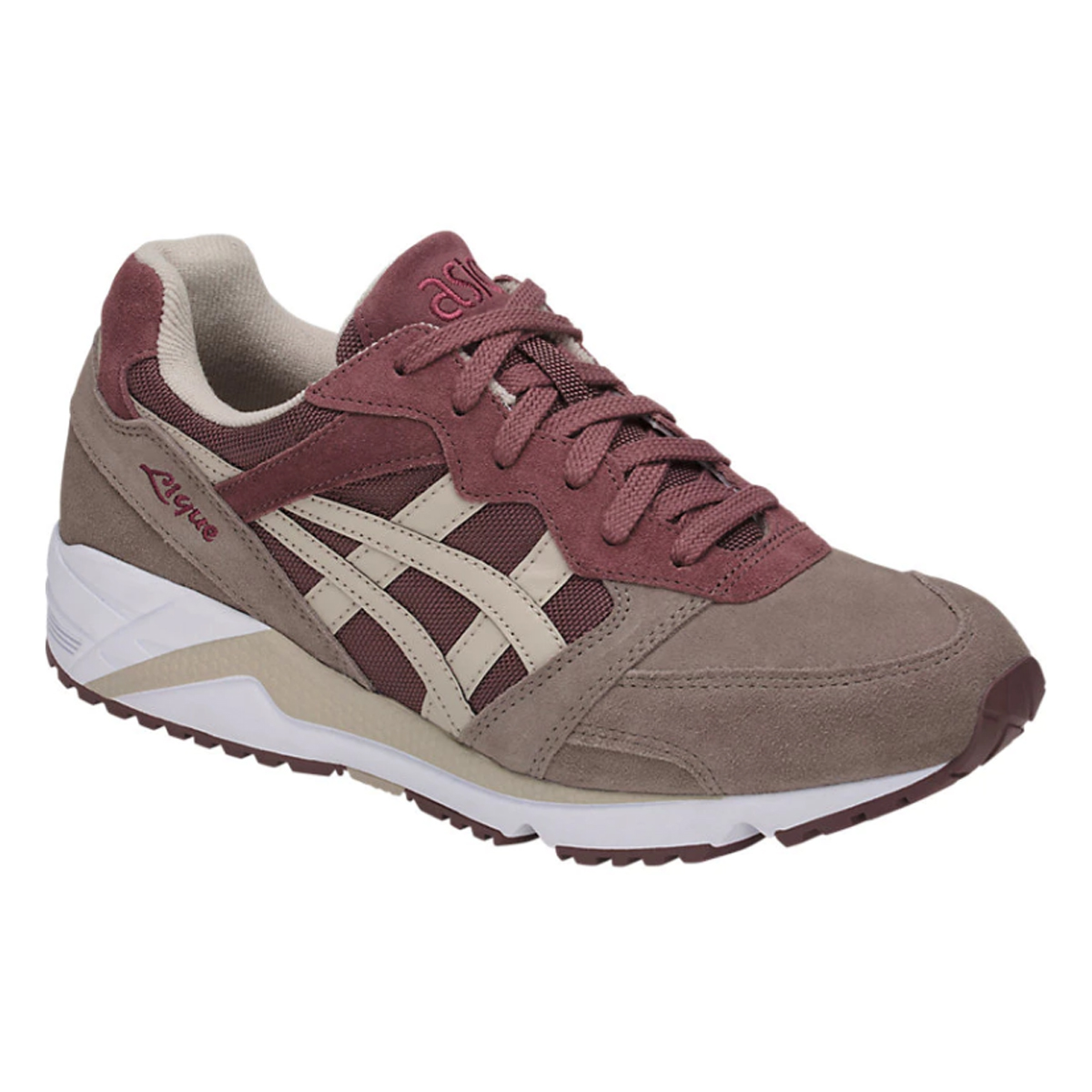 size 40 309c8 bbff9 Details about Asics Gel-Lique Men's Rose Taupe Feather Grey Sneaker Shoes  H838L-2612