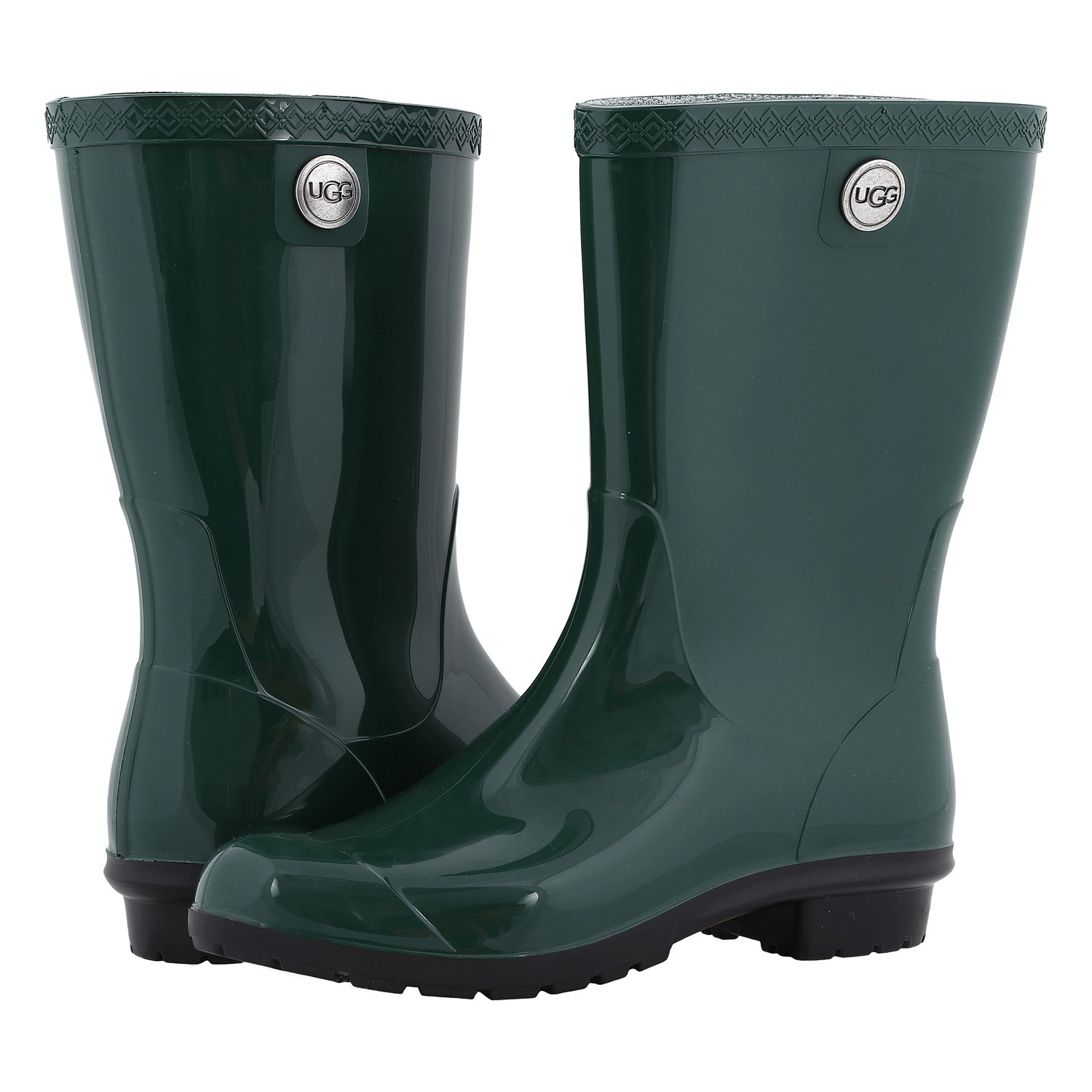 b6f586c6994 Details about UGG Women's Sienna Mid Calf Pull Up Rain Boot Pine