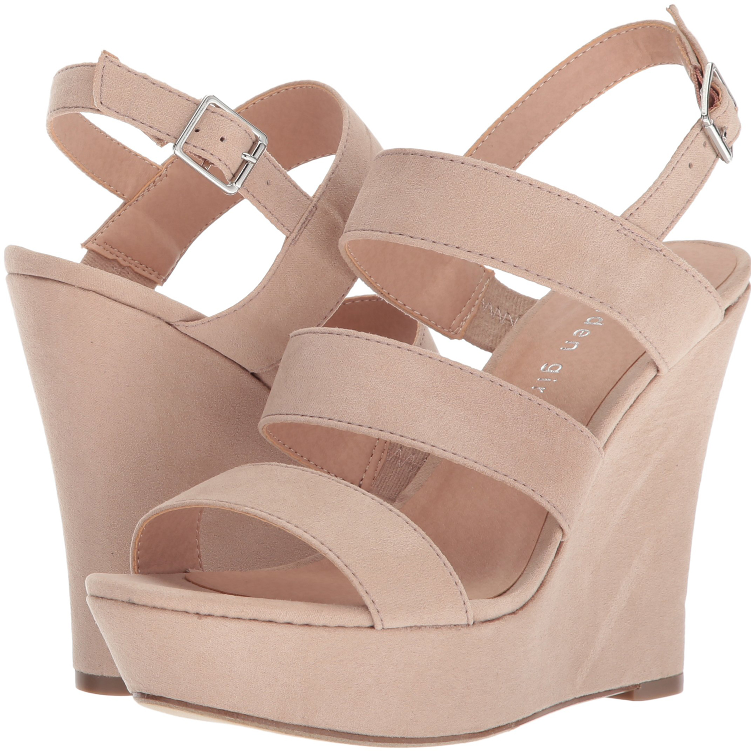 0d7807b5c Add some height to your look while remaining comfortable in the Madden Girl  blenda wedge sandal. These wedges feature an ankle strap with buckle  closure and ...