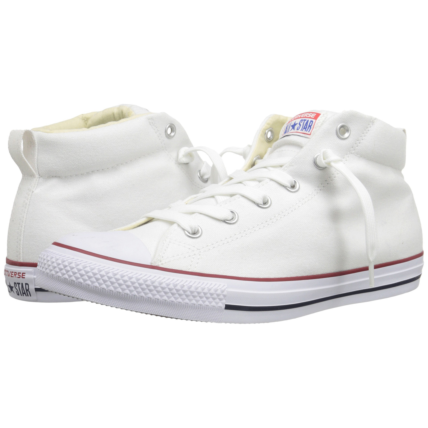b107f4153fd7 Good times are calling with the Converse Chuck Taylor All Star Street Mid  sneaker.Durable all canvas upper.Mid-top silhouette offers excellent ankle  ...