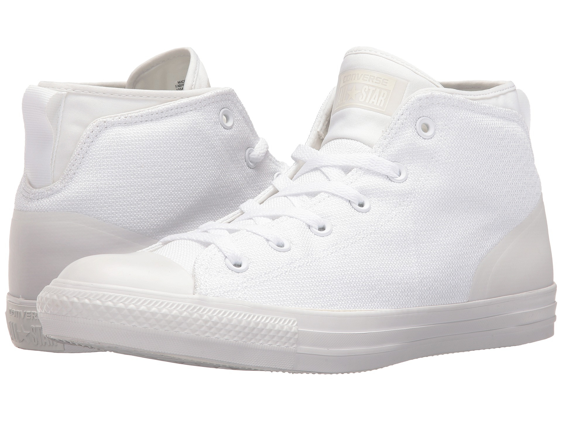 72fbbdd4bc26ff Converse Unisex Chuck Taylor All Star Syde Street Mid White Sneaker Shoes
