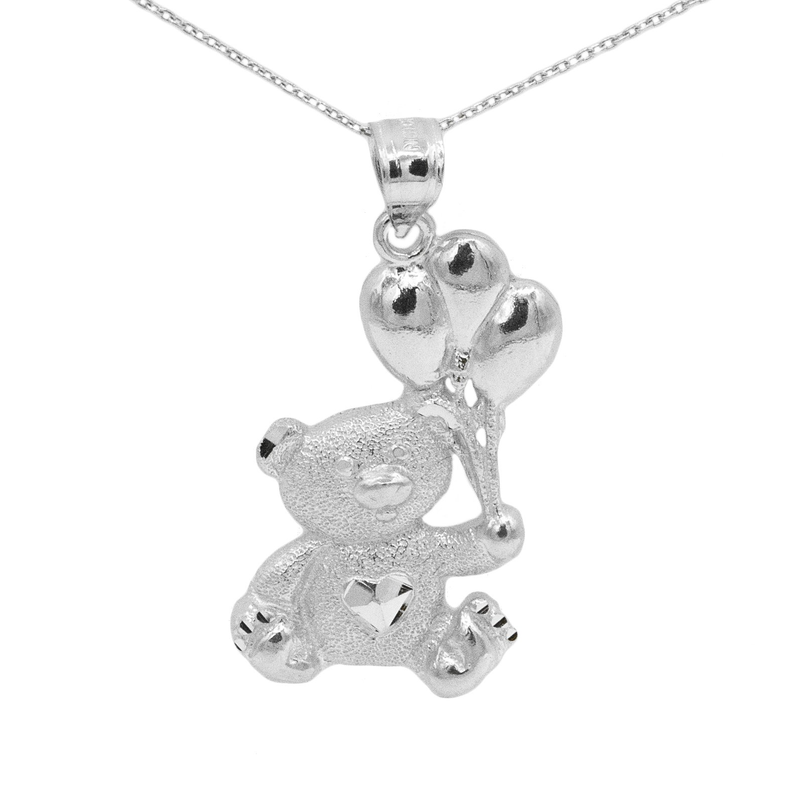 cute products pendant pretty blue bear crystal violet necklace