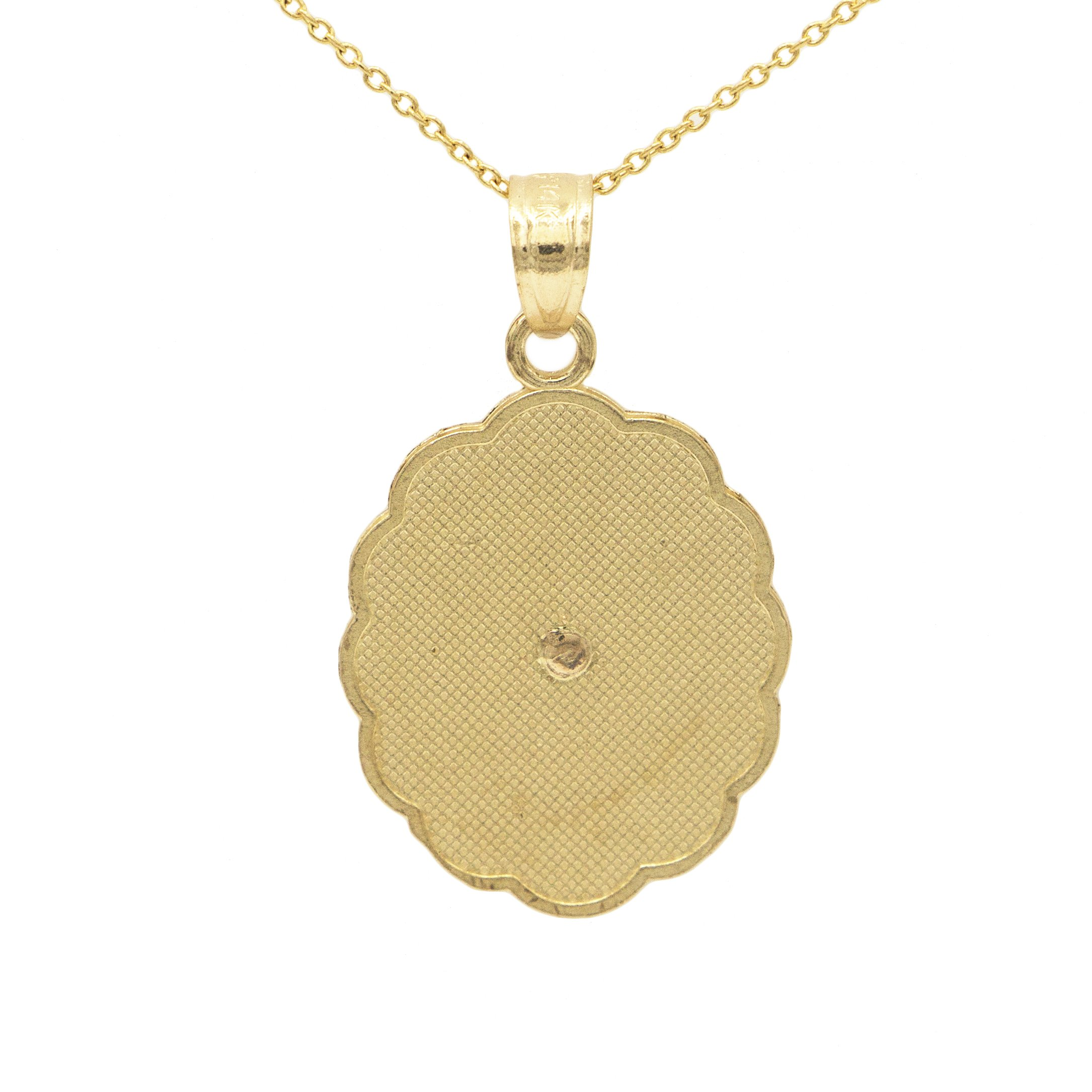 jewelers eli virgin image pendant yellow products gold mary adams