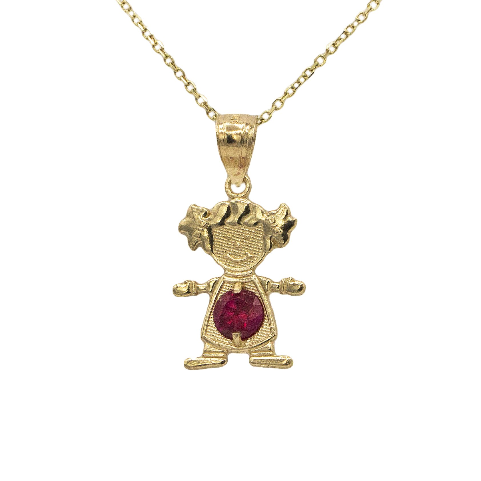 product gold enamel jeweluxe baby jewels yg girl necklace pendant castaldi diamonds and