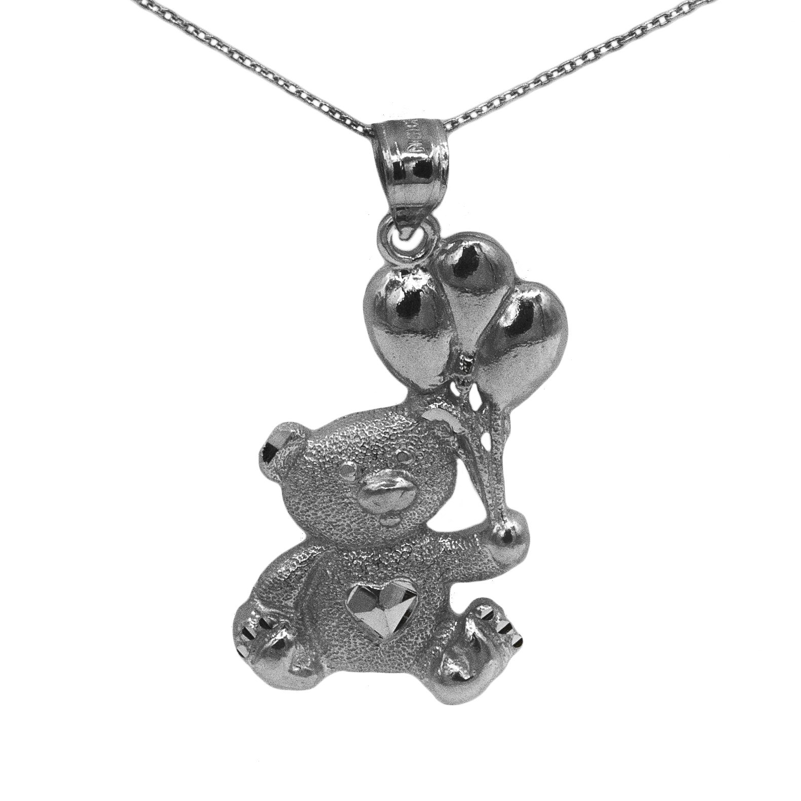 925 black rhodium sterling silver teddy bear pendant ebay 925 black rhodium sterling silver teddy bear pendant aloadofball Images