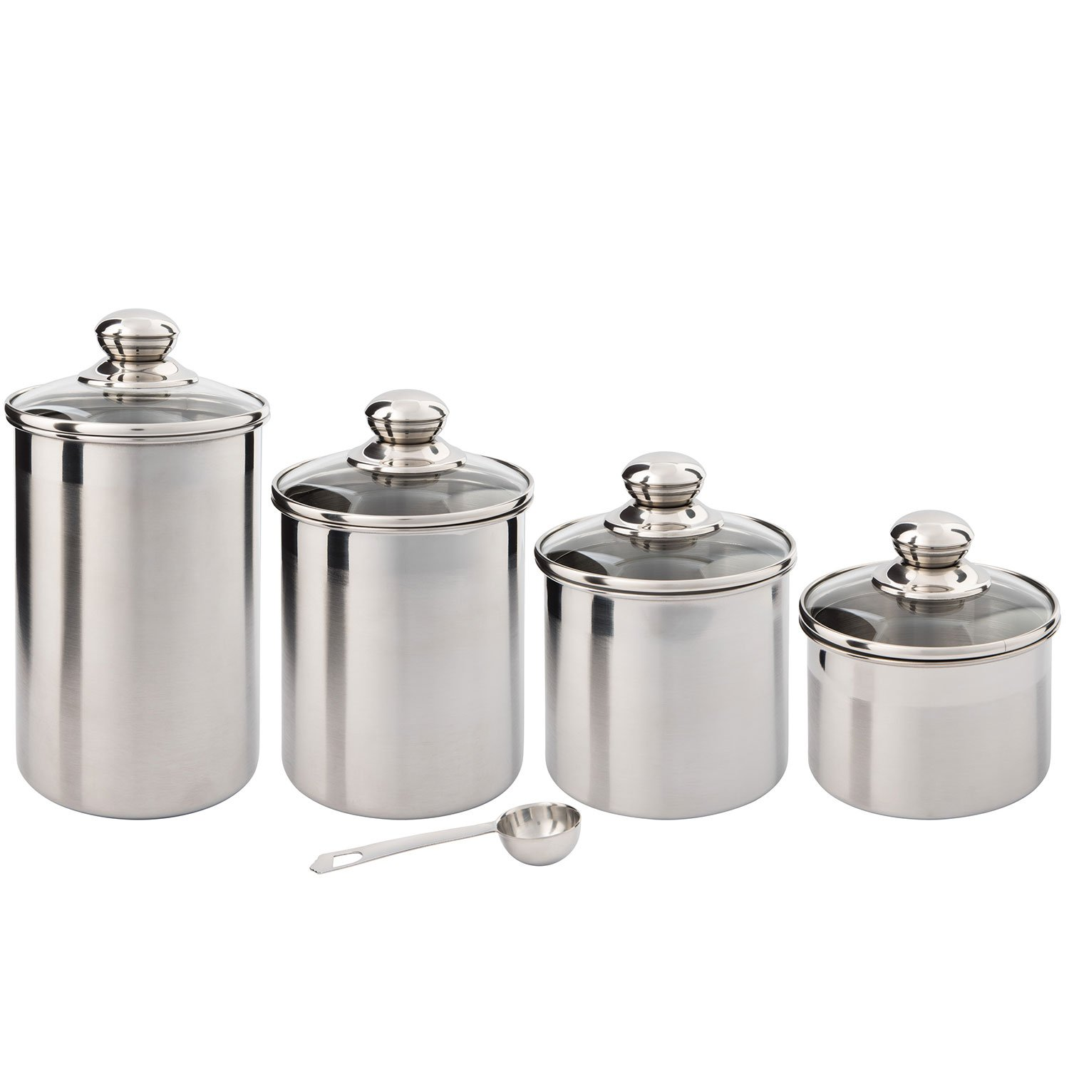 Canister Set Stainless Steel - Beautiful Canisters for Kitchen ...