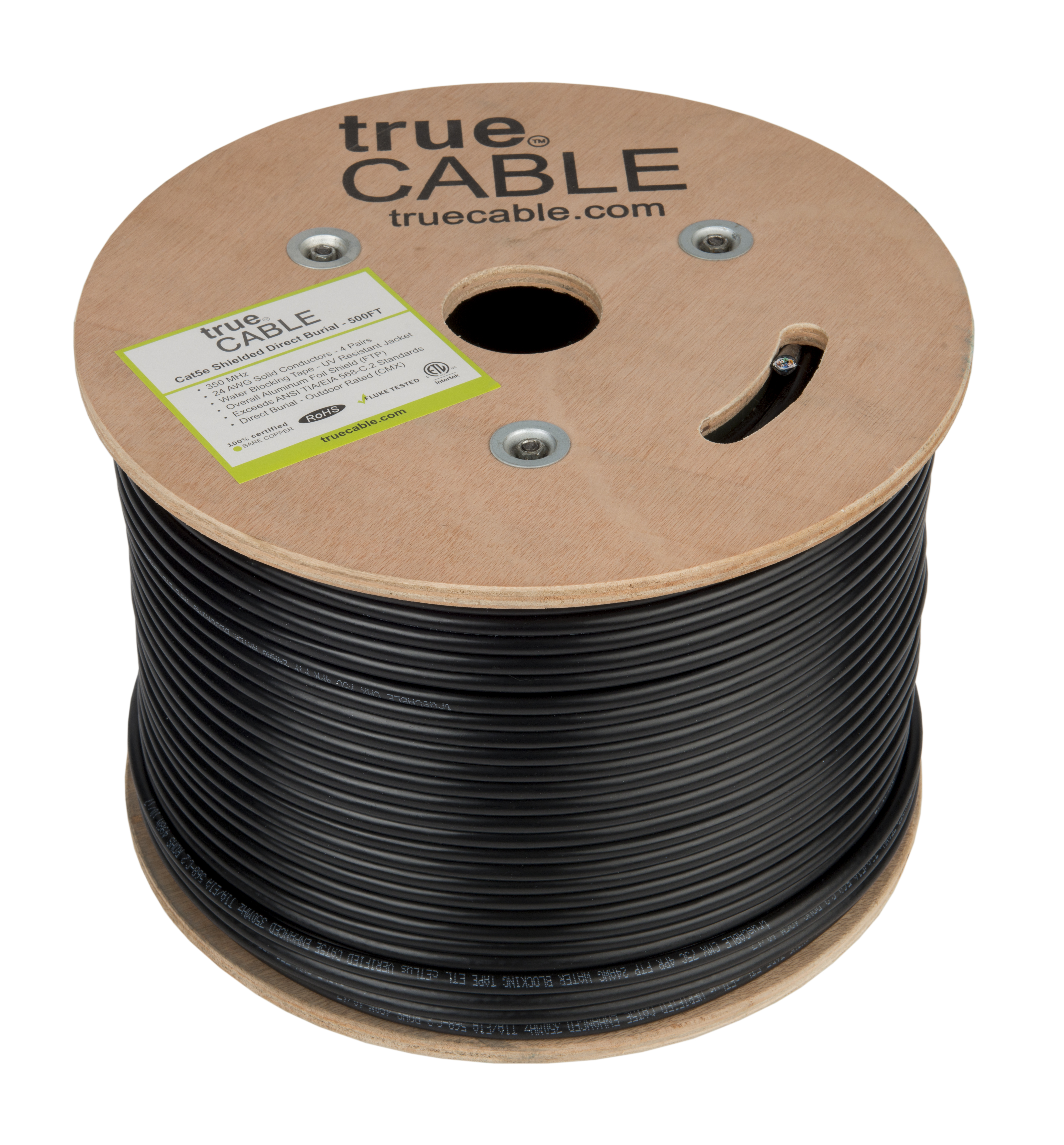 Cat5e Shielded Outdoor Ftp 500ft Bulk 24awg Solid Bare Copper Electrical Wire And