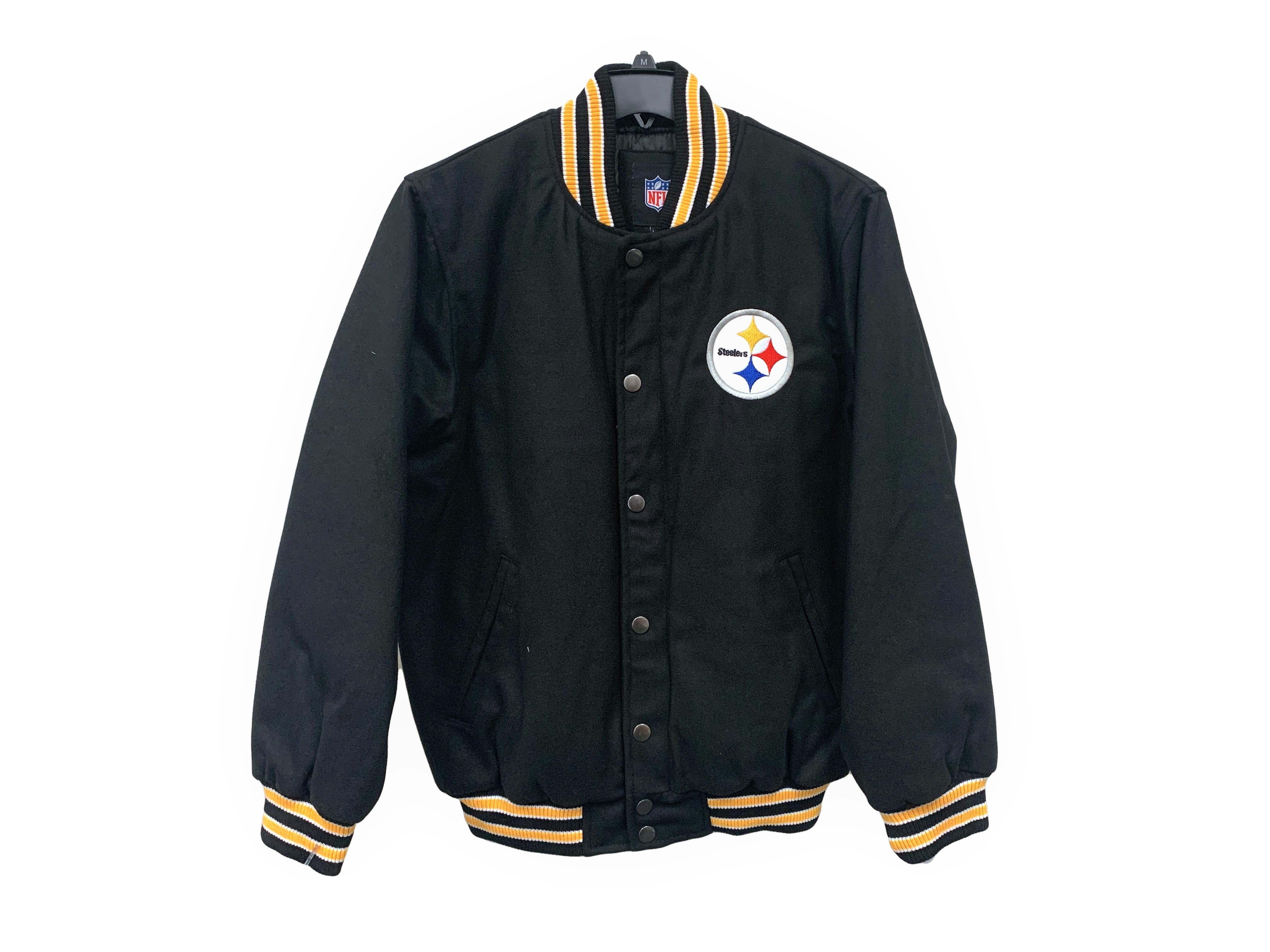 7453d3ff9 Image is loading NFL-Pittsburgh-Steelers-Pump-Fake-Varsity-Jacket